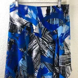 Vince Camuto Asymmetrical Blue Black Skirt